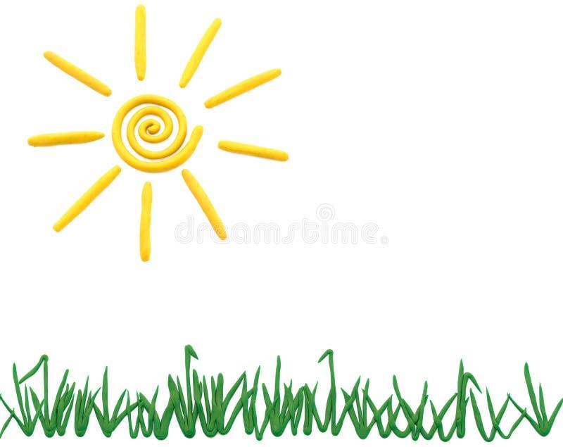 Zon en gras stock foto