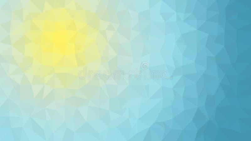 Zon en Hemel Lage Poly Vectorachtergrond royalty-vrije illustratie