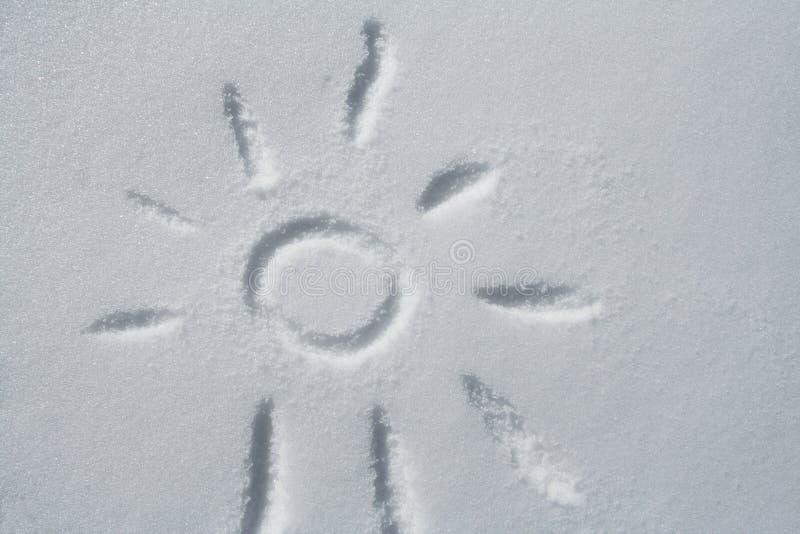 Zon en sneeuw stock afbeelding