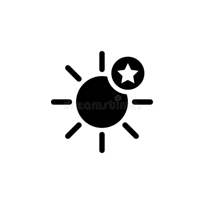 Zon en sterpictogram Element van weerillustratie De tekens en de symbolen kunnen voor Web, embleem, mobiele toepassing, UI, UX wo stock illustratie