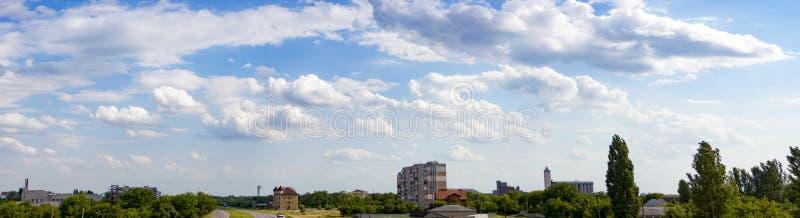 Zon en wolk stock afbeelding