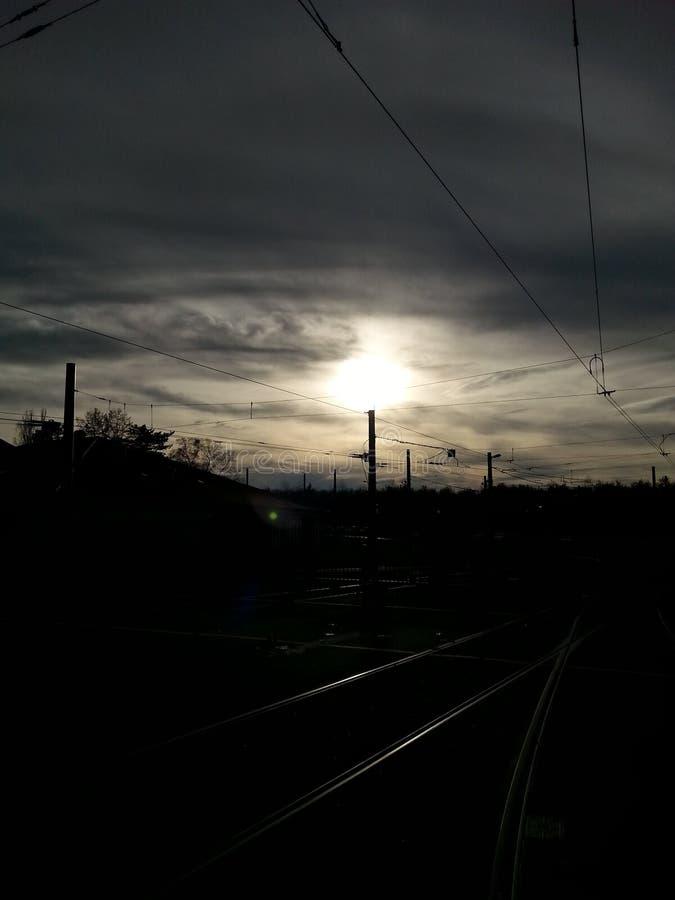 Zon en Wolken stock afbeelding