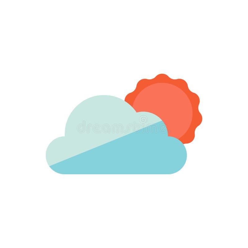 Zon en wolkenpictogrammen royalty-vrije illustratie