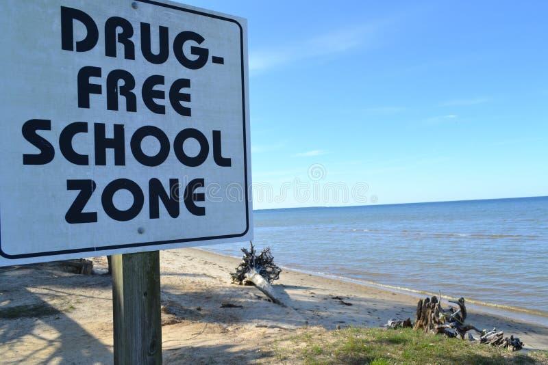 zon för fri skola för drog arkivbild