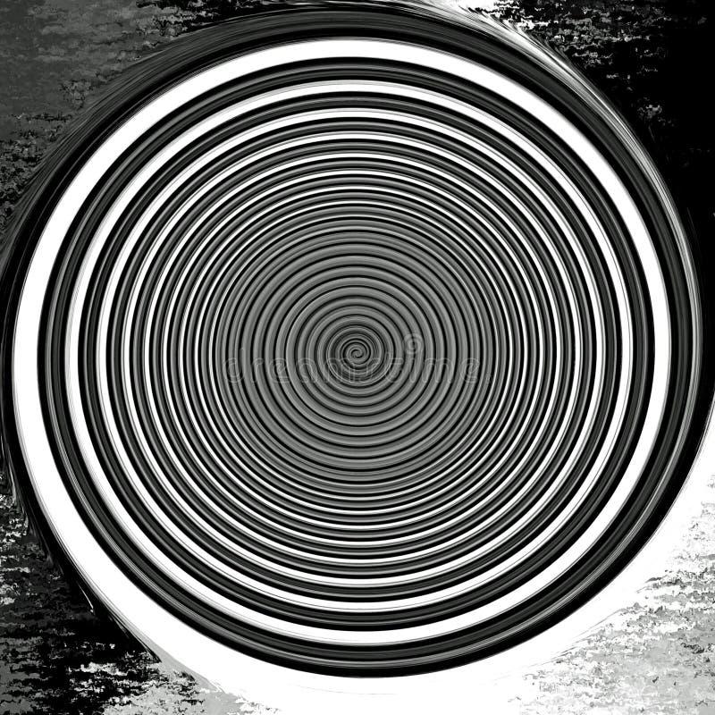 Zon för skymning för Digital målningabstrakt begrepp i svartvit bakgrund vektor illustrationer