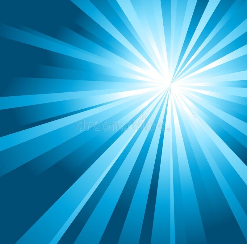Zon op een blauwe hemel vector illustratie