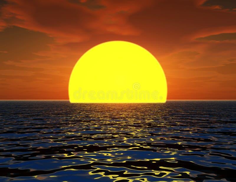 Zon in Overzees 2 royalty-vrije illustratie