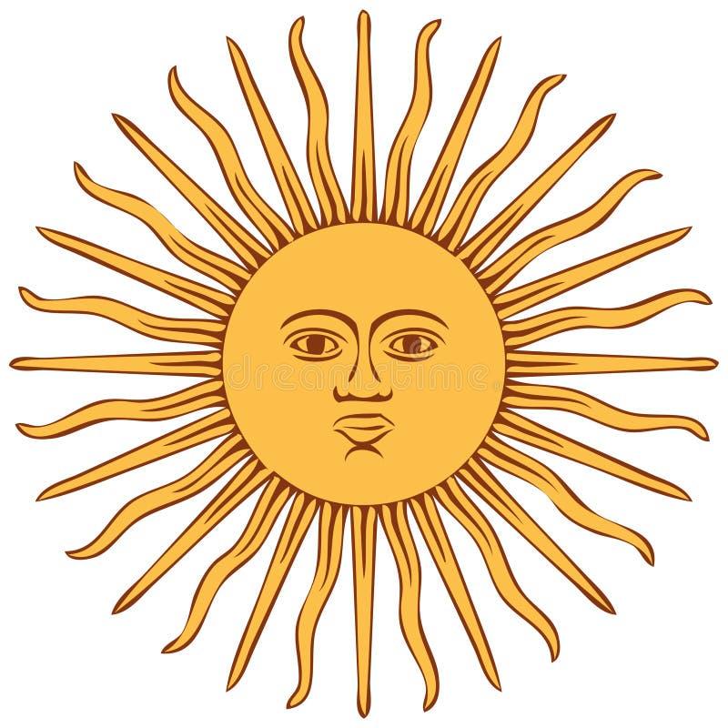 Zon van de vlag van Argentinië royalty-vrije illustratie