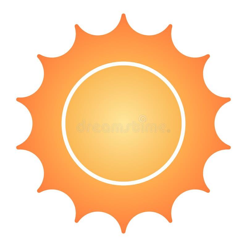 Zon vlak pictogram De pictogrammen van de sterkleur in in vlakke stijl De stijlontwerp van de zonneschijngradiënt, dat voor Web e royalty-vrije illustratie