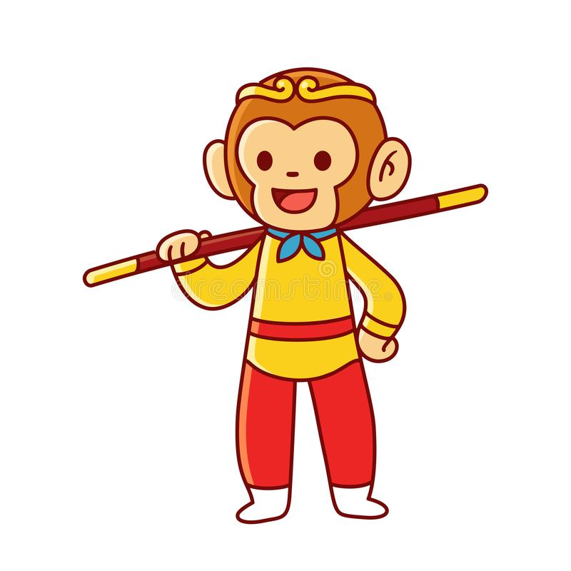 Zon Wukong, N/a stock illustratie