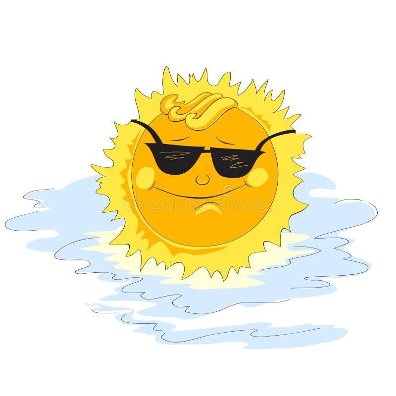 Zon in zonnebril royalty-vrije stock foto