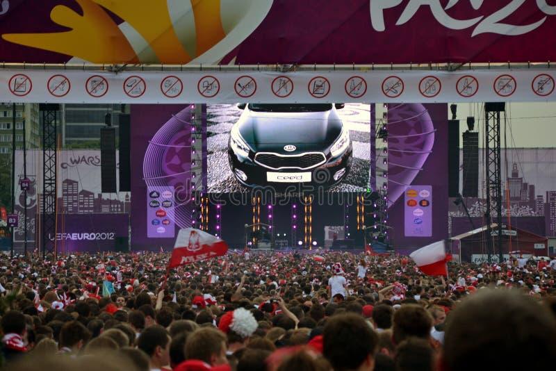 Zona 2012 di divertimento dell'euro a Varsavia fotografie stock