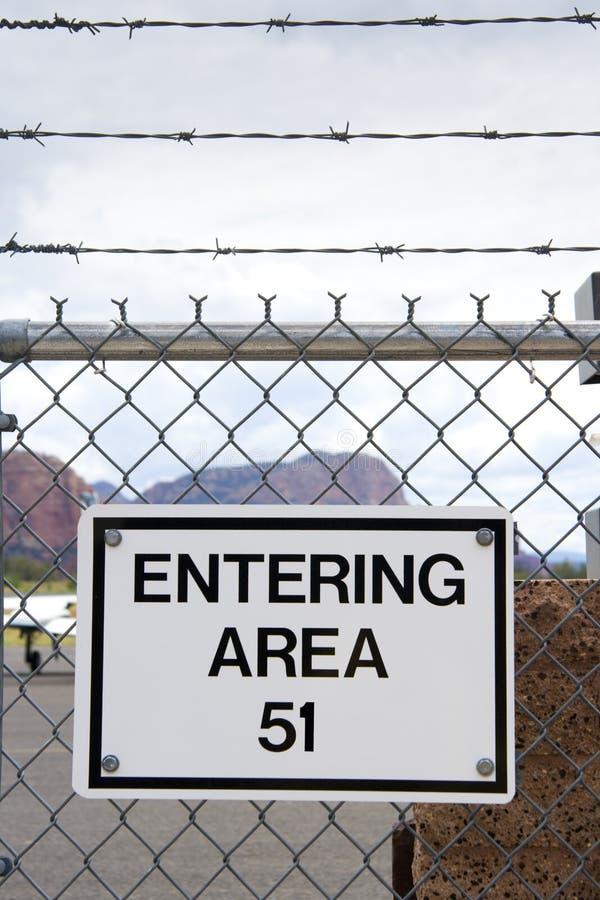 Zona 51 fotografia stock