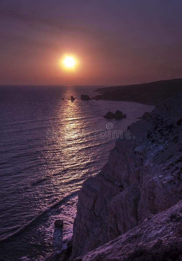 Zona activa turística de Chipre cerca de Paphos foto de archivo libre de regalías