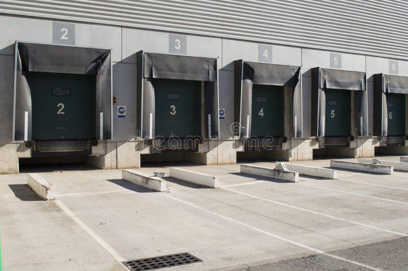 Zona adibita al carico per i camion fotografia stock libera da diritti