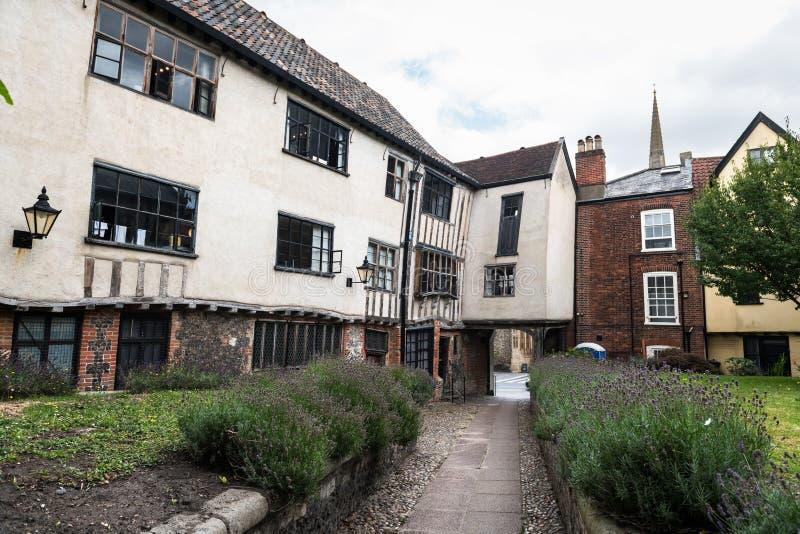 Zona antiga de Tombland Norwich fotografia de stock