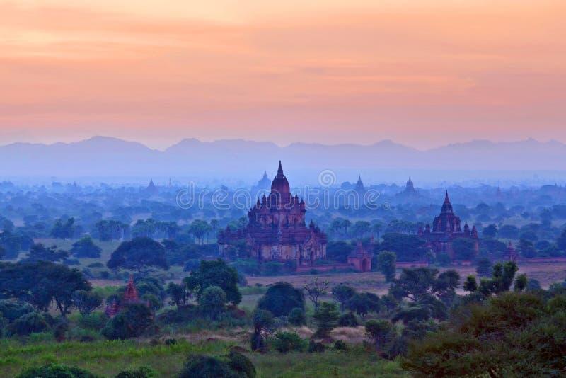 Zona archaeological de Bagan, Myanmar fotos de stock