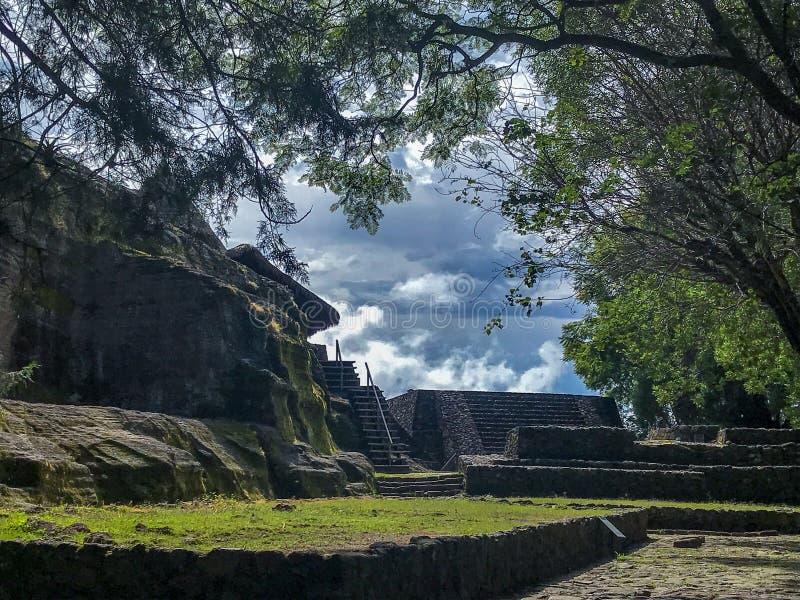 Zona archeologica di Malinalco fotografie stock libere da diritti