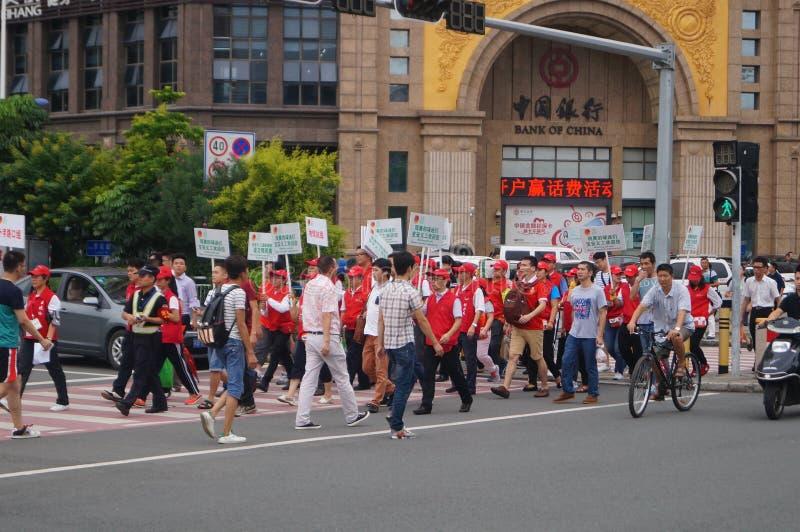 Zona asiatica della coppa del Mondo di calcio che si qualifica nello stadio di Baoan Shenzhen tenuto immagine stock