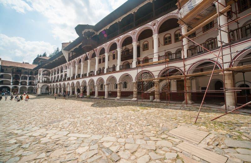 Zona Bulgária da reconstrução do monastério de Rila fotografia de stock