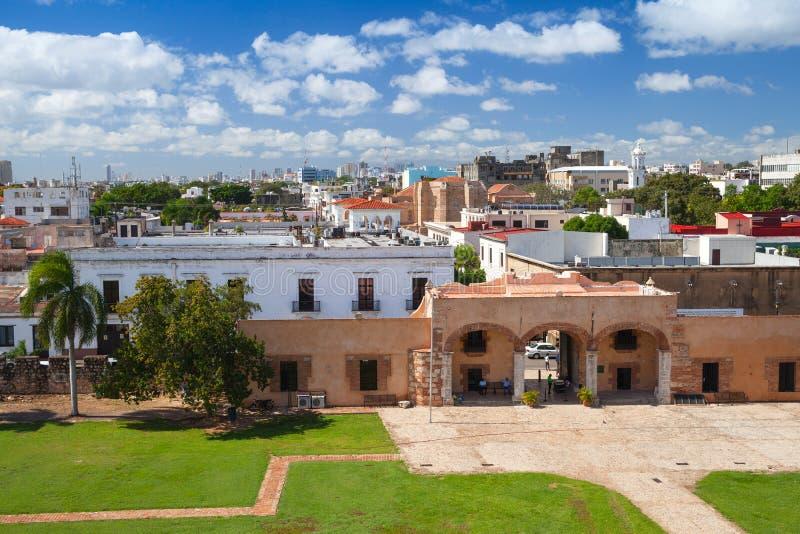 Zona Colonial, cityscape of Santo Domingo. Capital city of Dominican Republic royalty free stock photos