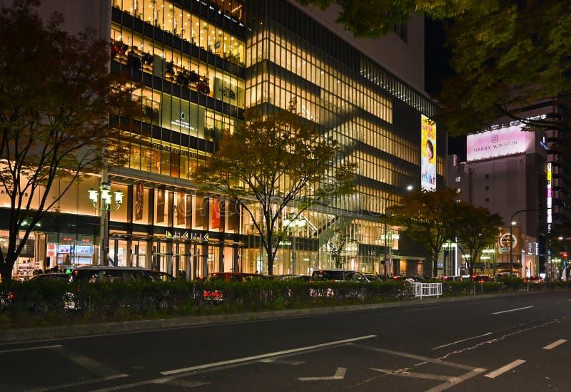Zona comercial de Sakae, Nagoya (Japón) imagen de archivo libre de regalías