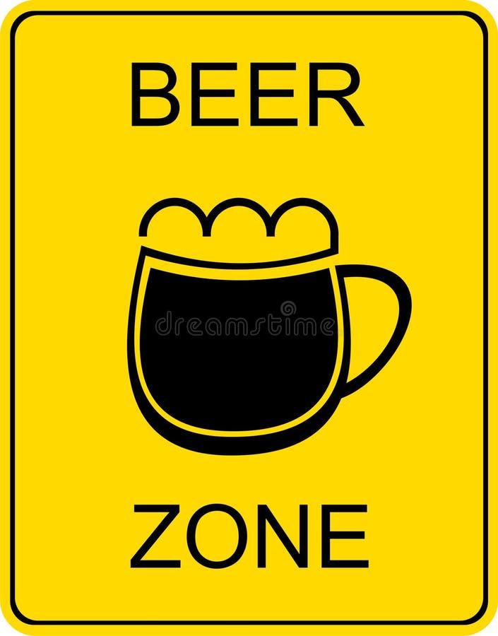 Zona da cerveja - sinal ilustração do vetor