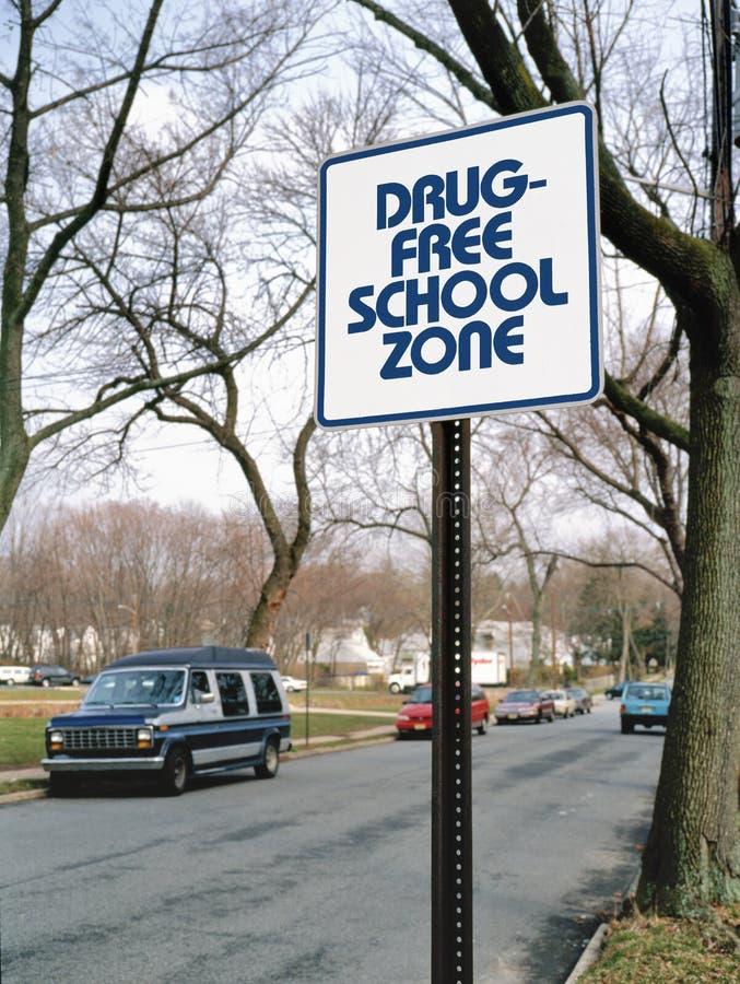 Zona da escola livre da droga fotografia de stock royalty free