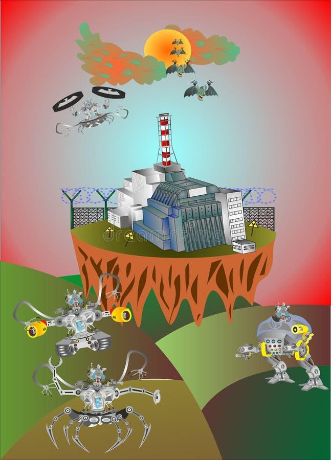 Zona da morte de Chernobyl ilustração royalty free