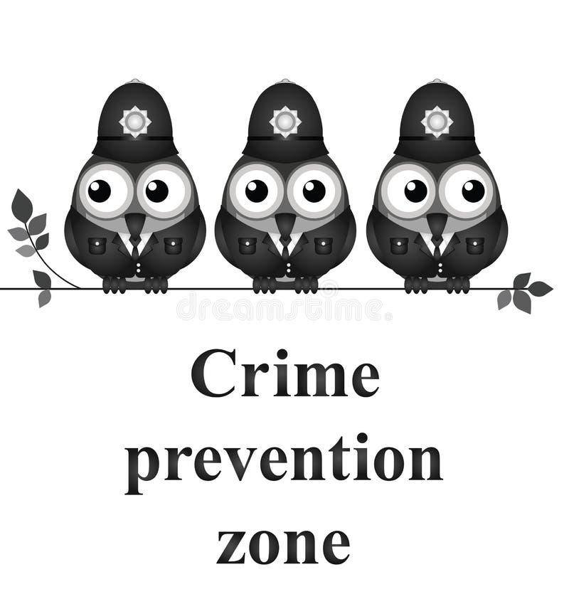 Zona da prevenção da criminalidade ilustração royalty free