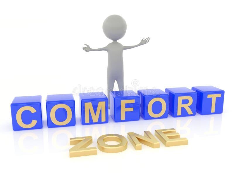 Zona de conforto ilustração stock