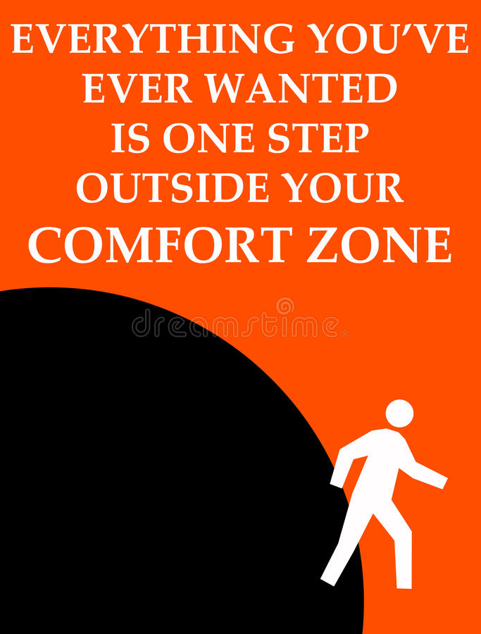 Zona de conforto exterior ilustração do vetor