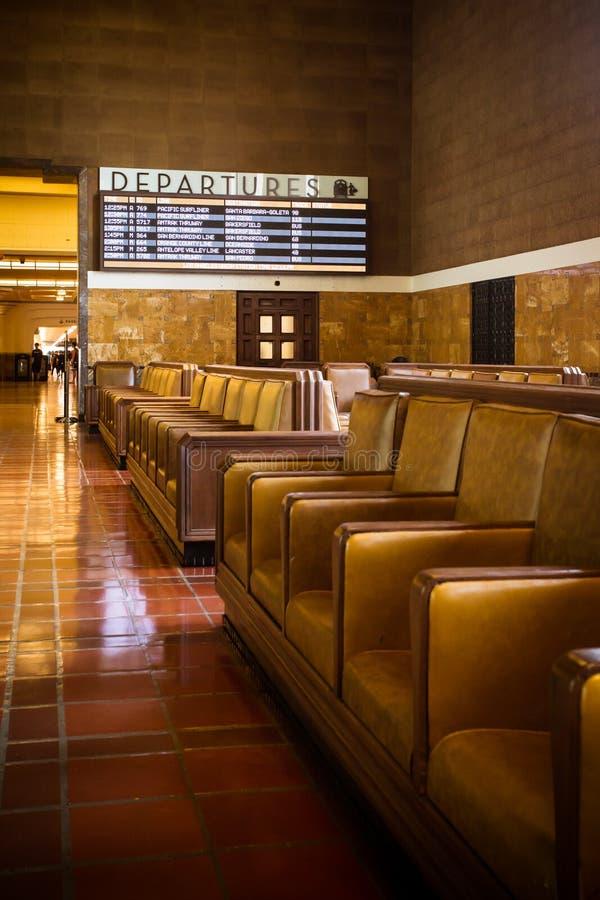 Zona de espera de la estación de la unión de Los Ángeles foto de archivo libre de regalías