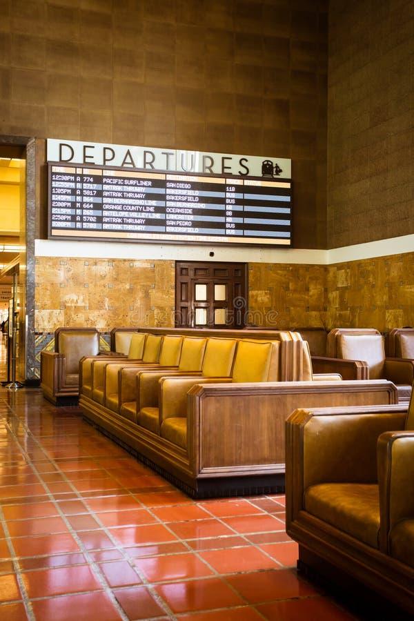 Zona de espera de la estación de la unión de Los Ángeles fotografía de archivo libre de regalías