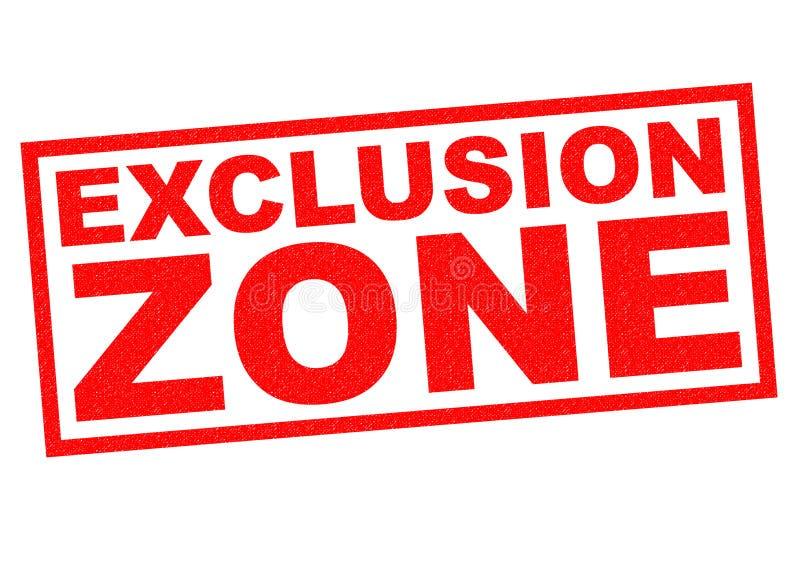Zona de exclusão ilustração do vetor