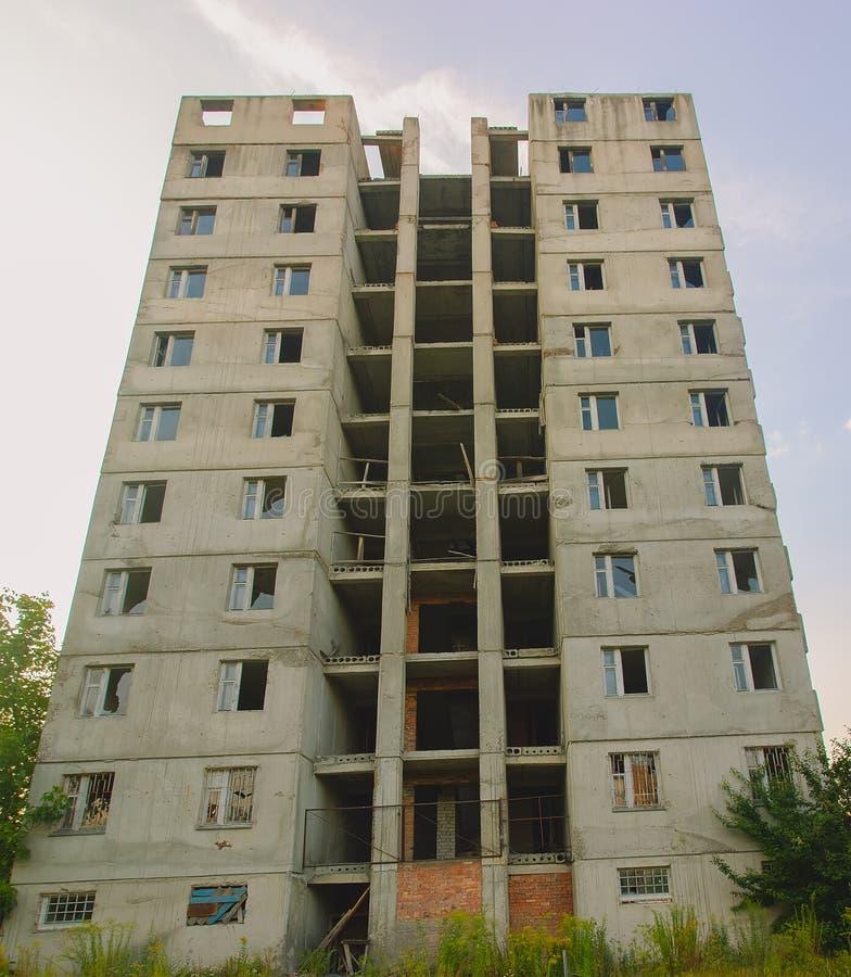 Zona de exclusión de Pripyat Chernóbil del fantasma en el invierno foto de archivo