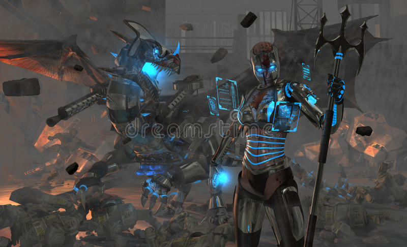 Zona de guerra ilustração do vetor
