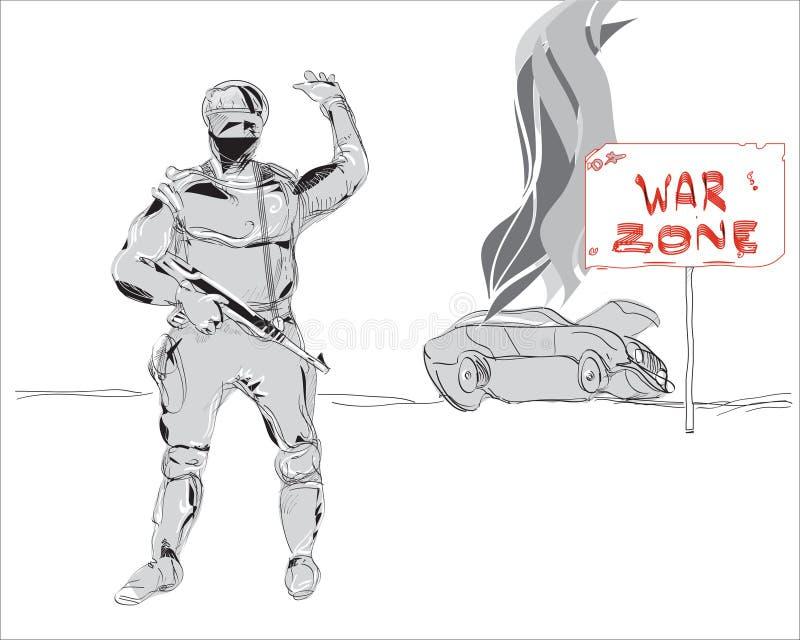 Zona de guerra libre illustration