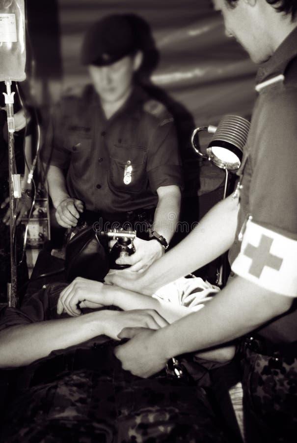 Zona de guerra del hospital del ejército fotografía de archivo libre de regalías