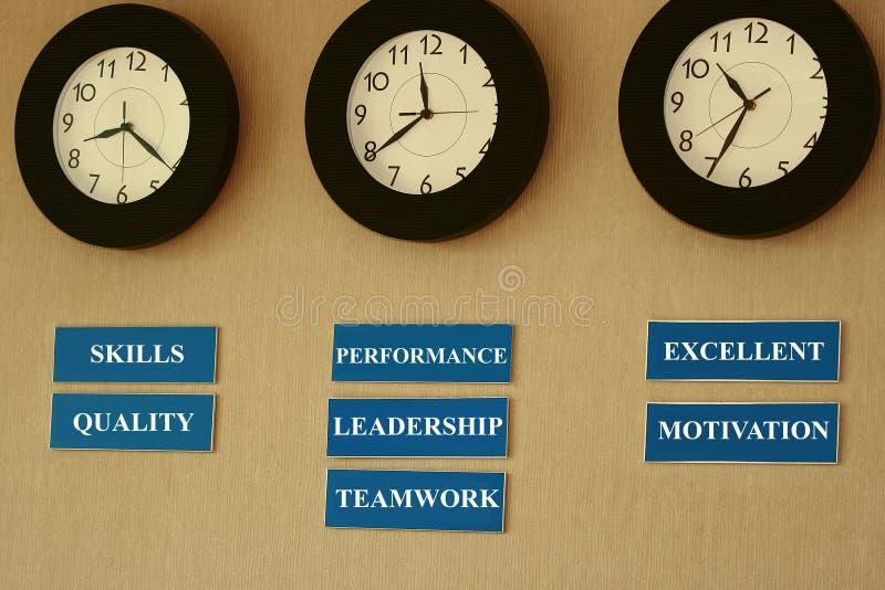 Zona de las metas de la gerencia a tiempo imagenes de archivo