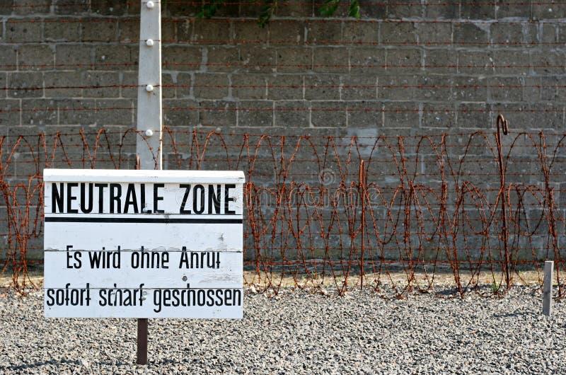 Zona de Netral en campo nazi fotografía de archivo libre de regalías