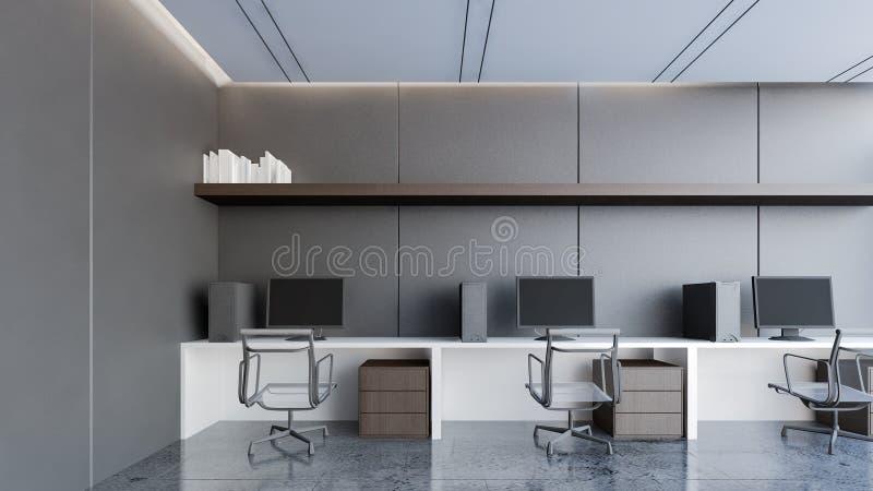 Zona de trabajo de lujo con la representación negra pared/3D libre illustration