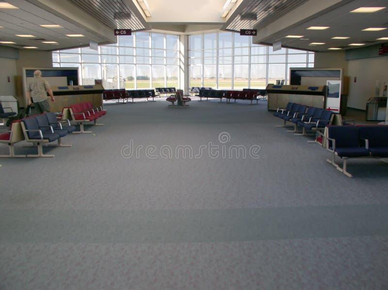 Zona del cancello dell'aeroporto fotografie stock libere da diritti