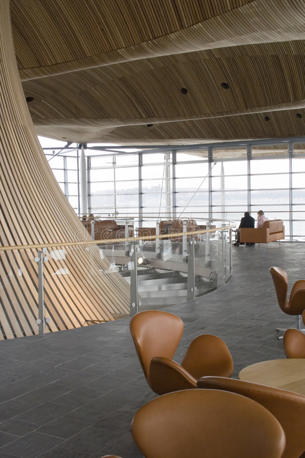 Zona del pubblico dell'Assemblea di Lingua gallese. fotografie stock