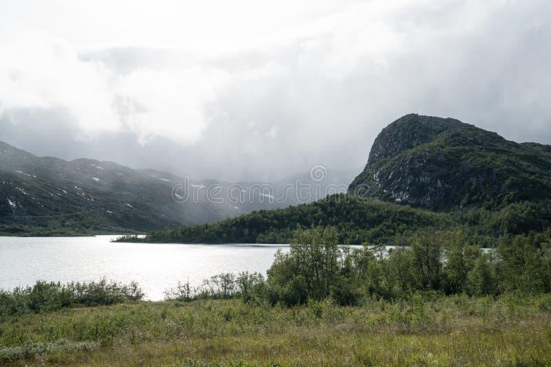 Zona di montagna vicino a Geilo fotografia stock