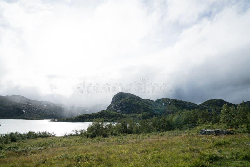 Zona di montagna vicino a Geilo fotografia stock libera da diritti