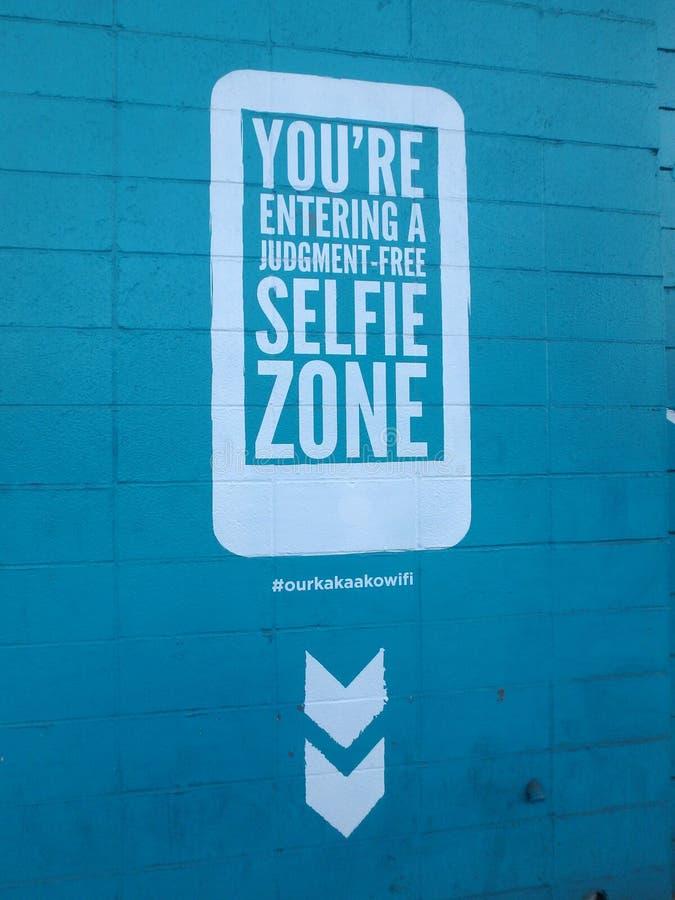 Zona di Selfie fotografie stock