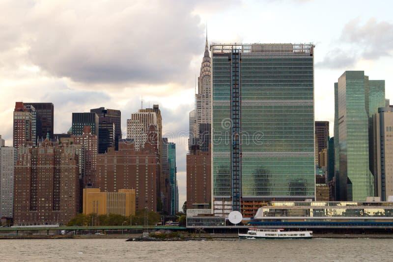 Zona este del Midtown Manhattan, NY imagen de archivo libre de regalías