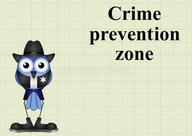 Zona EUA da prevenção da criminalidade ilustração do vetor