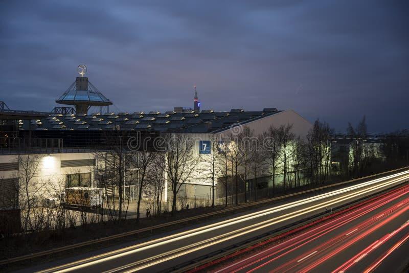 Zona fieristica di Hannover fotografie stock